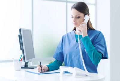 nurse having a call
