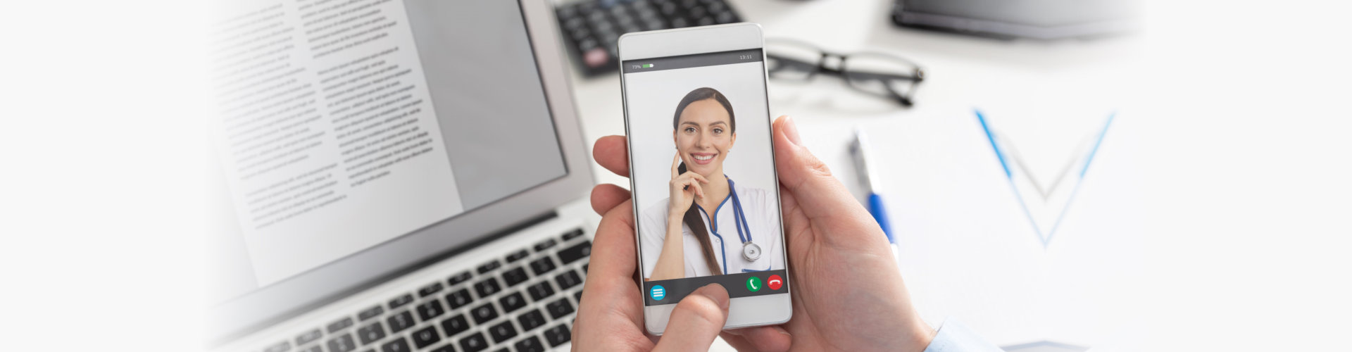 patient talking to a doctor on phone