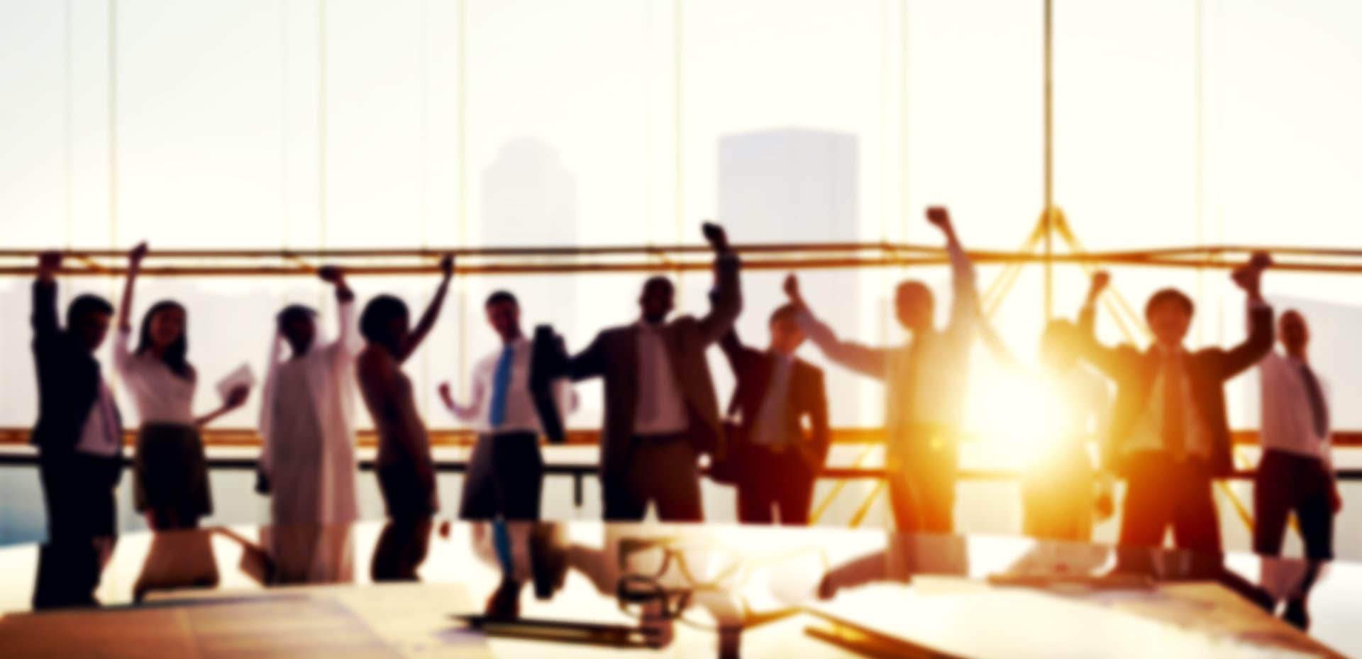 happy corporate workers